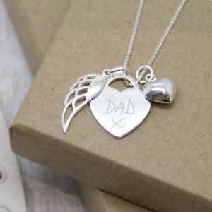 Sterling Silver Handwriting Memorial Necklace