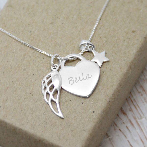 Sterling Silver 'How Long Will I Love You' Engraved Necklace