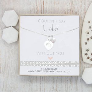 Sterling Silver I Couldn't Say I Do Without You Engraved Necklace