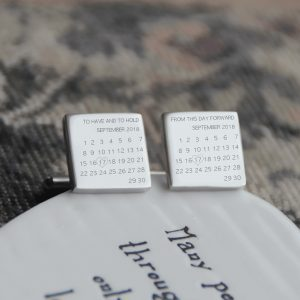Stainless Steel 'On This Day' Cufflinks