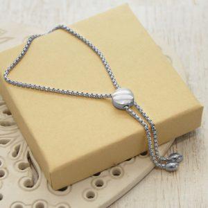 Sterling Silver Pebble Slider Bracelet