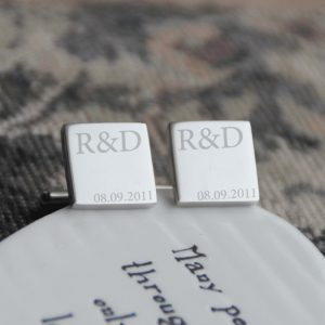 Sterling Silver Personalised Cufflinks
