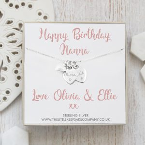 Sterling Silver Personalised Gift Necklace With Puffed Heart