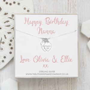 Sterling Silver Personalised Gift Necklace