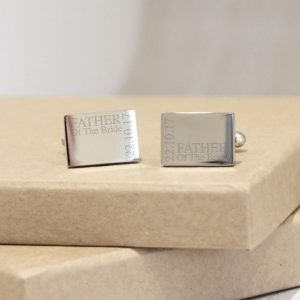 Sterling Silver Personalised Wedding Cufflinks