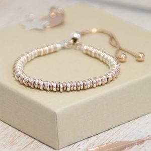 Sterling Silver & Rose Gold Plated Sweetie Bracelet
