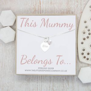 Sterling Silver 'This Mummy Belongs To' Personalised Necklace