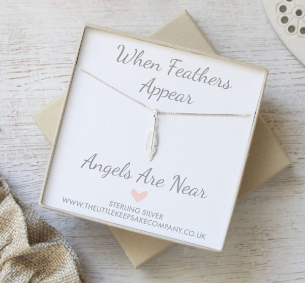 Sterling Silver 'When Feathers Appear' Mini Necklace