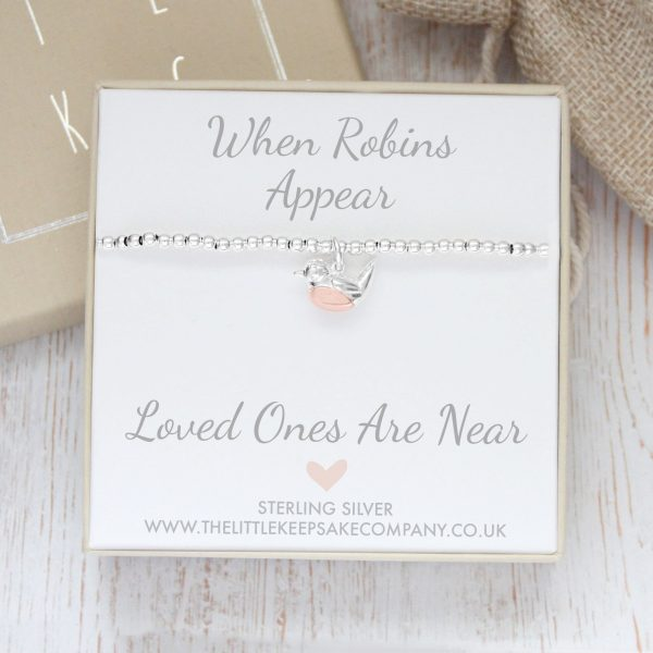 Sterling Silver 'When Robins Appear' Bracelet