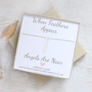 'When Feathers Appear' Anklet - Mini Silver Feather