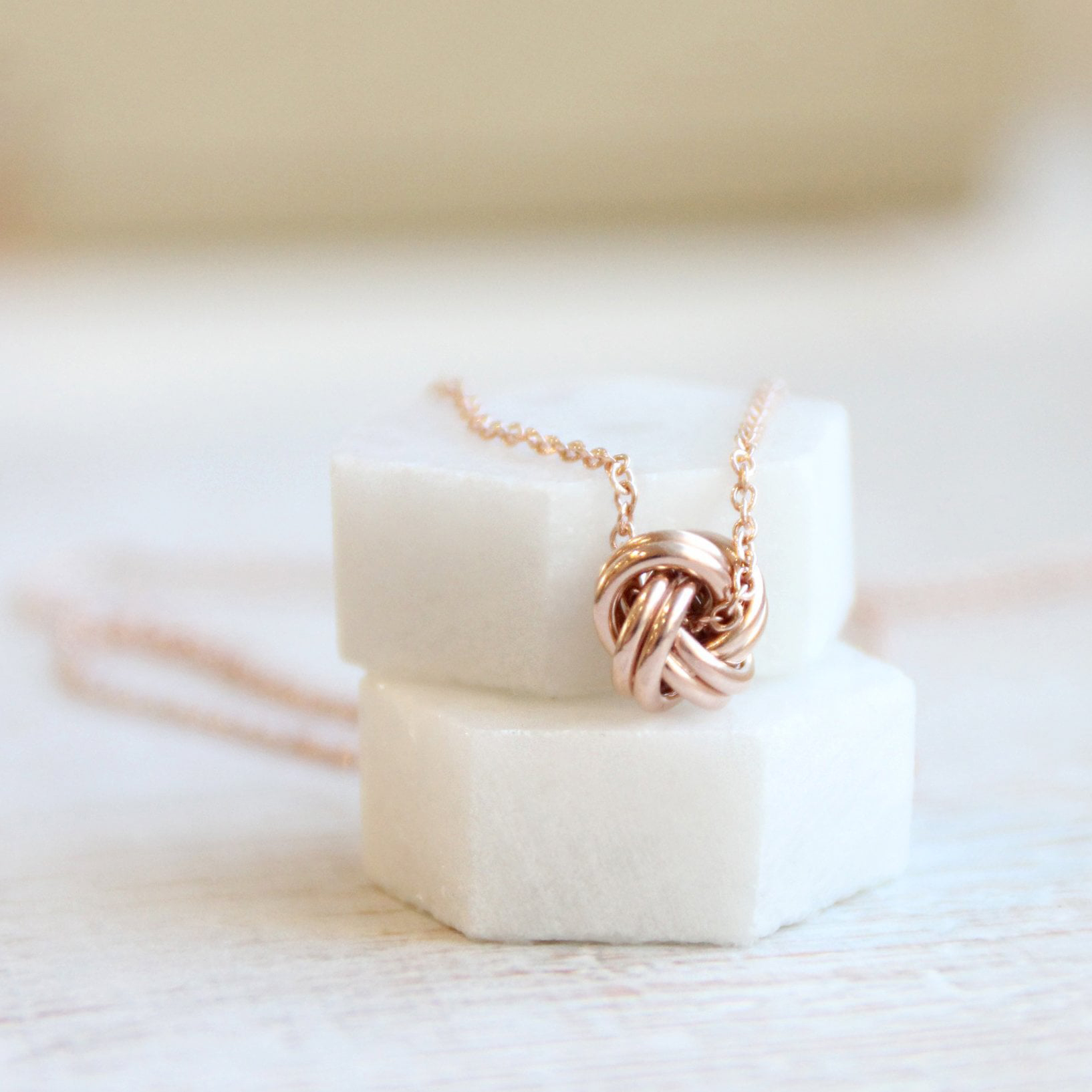 Rose Gold Vermeil Quote Necklace You Can Never Untie The Knot Of True Friendship The Perfect Keepsake Gift