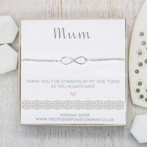 Sterling Silver Infinity Slider Bracelet - 'Mum Thank You For Standing By My Side'
