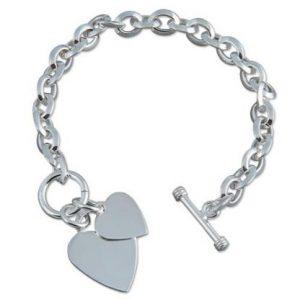 Sterling Silver Chunky T-Bar Bracelet