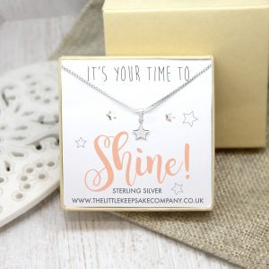 Sterling Silver Gift Set - 'It's Your Time To Shine!'