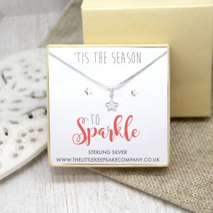 Sterling Silver Gift Set - 'Tis The Season To Sparkle'