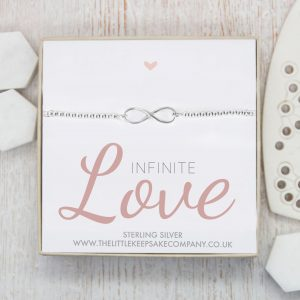 Sterling Silver Infinity Ball Slider Bracelet - 'Infinite Love'