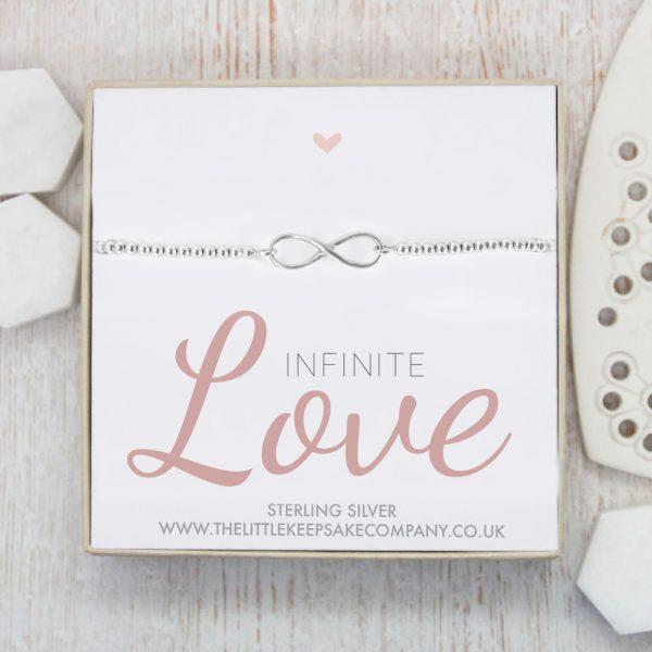 Sterling Silver Infinity Ball Slider Bracelet - 'Infinite Love'
