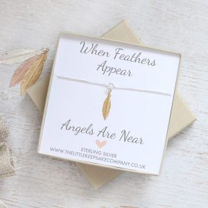 'When Feathers Appear' Bracelet - Mini Yellow Gold Feather