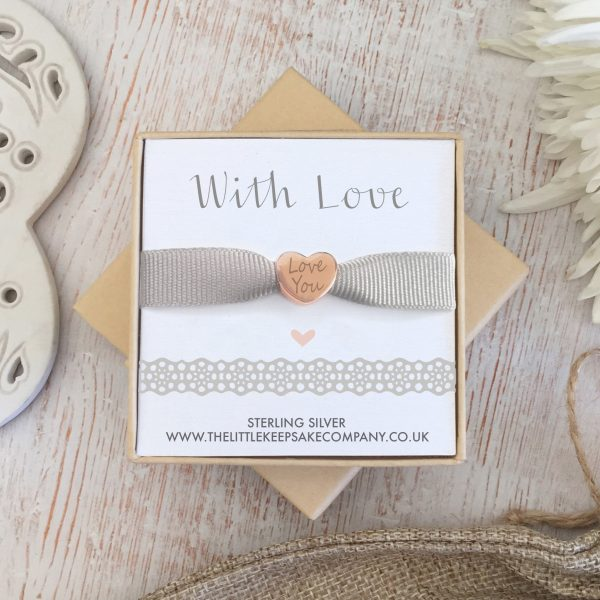 Rose Gold Vermeil Engraved Occasions Heart Bead