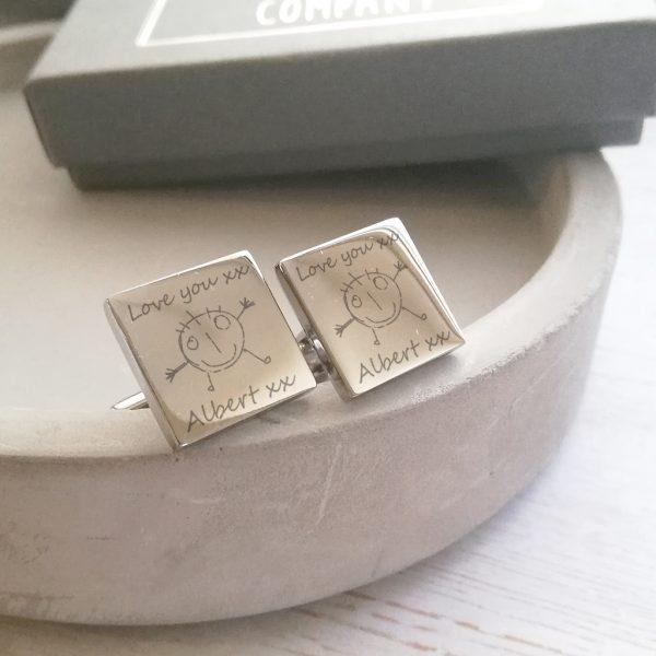 Sterling Silver Artwork Cufflinks