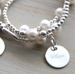 Sterling Silver Engraved 'Just Words' Charm