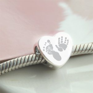 Sterling Silver Hand & Footprint Bead