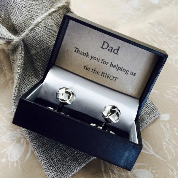 Stainless Steel Personalised Knot Cufflinks