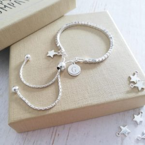Sterling Silver Box Slider Bracelet - Silver Dinky Star