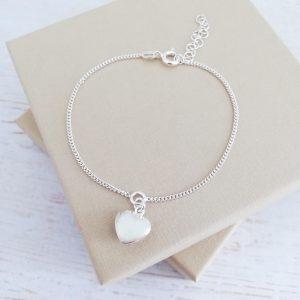 sterling-silver-curb-chain-heart-bracelet-teachers-encourage