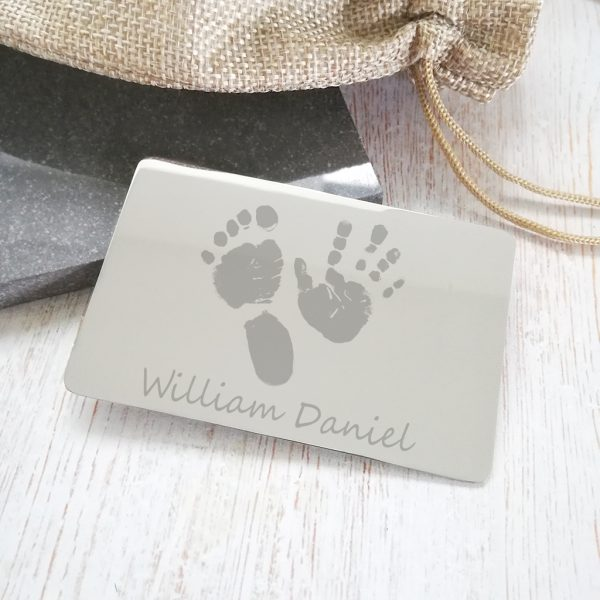 Stainless Steel Engraved Wallet Card With Prints