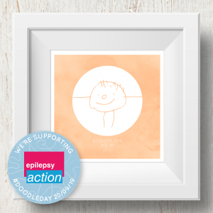 Personalised 'Doodle Artwork' Print - Inverse Circle Design In Orange