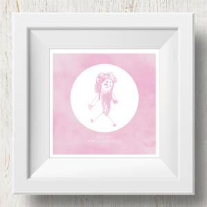 Personalised 'Doodle Artwork' Print - Inverse Circle Design In Pink