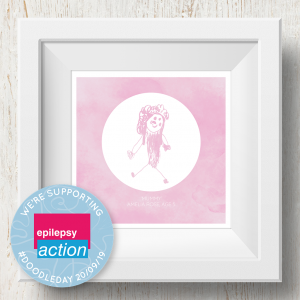 Personalised 'Doodle Artwork' Print - Inverse Circle Design In Pink