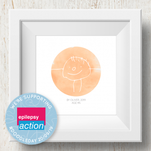 Personalised 'Doodle Artwork' Print - Circle Design In Orange