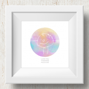 Personalised 'Doodle Artwork' Print - Circle Design In Rainbow