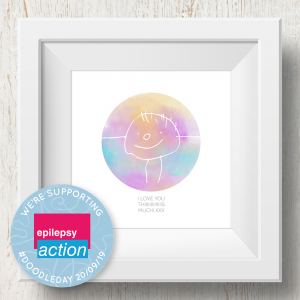 Personalised 'Doodle Artwork' Print - Circle Design In Rainbow