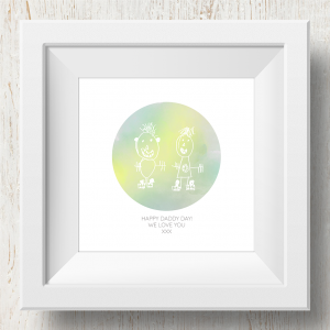 Personalised 'Doodle Artwork' Print - Circle Design In Yellow/Green