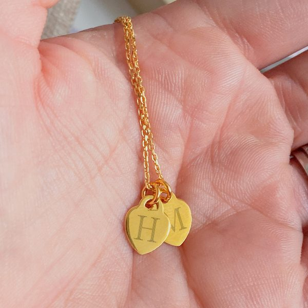 Create Your Own - Dinky Heart Initial Necklace