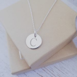 Sterling Silver Engraved Mini Coin Necklace