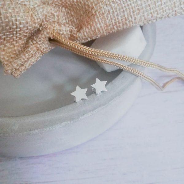 Silver Star Stud Earring