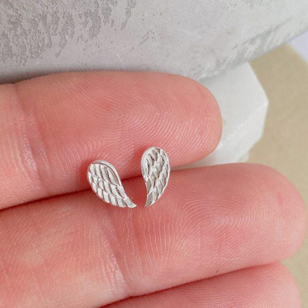 Silver Wing Stud Earring