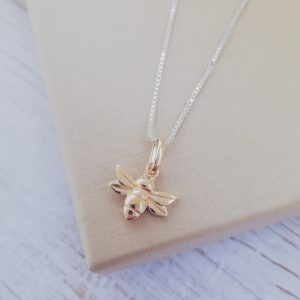 Sterling Silver & Yellow Gold Vermeil Honey Bee Necklace