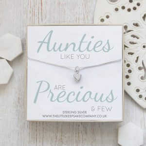 Sterling Silver Quote Necklace - 'Aunties Like You Are Precious & Few'
