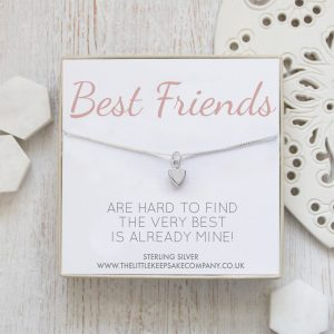 Sterling Silver Quote Necklace - 'Best Friends Are Hard To Find'