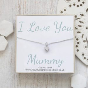 Sterling Silver Quote Necklace - 'I Love You Mummy'