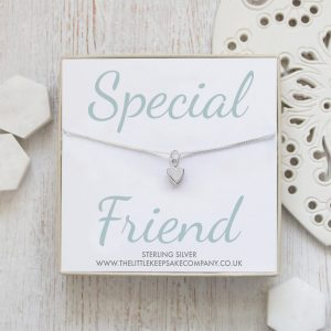 Sterling Silver Quote Necklace - 'Special Friend'