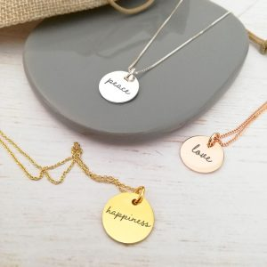 Create Your Own - Engraved Mantra Necklace