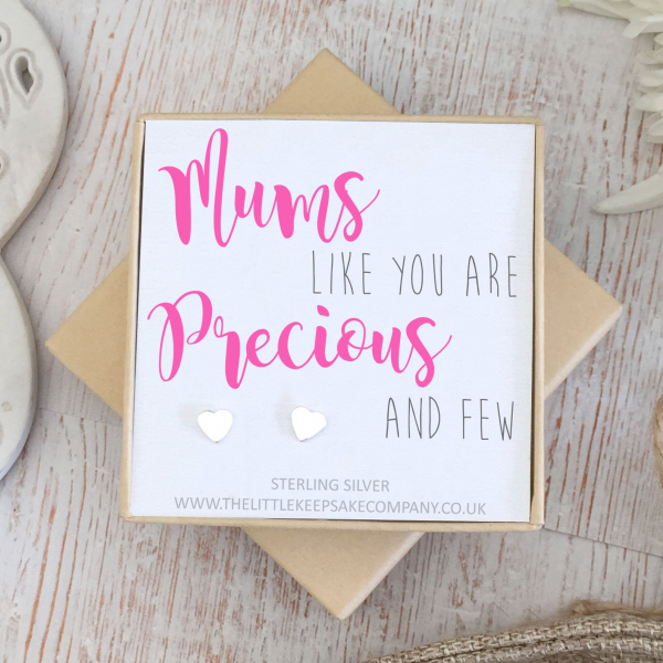 Sterling Silver Quote Earrings - 'Mums Like You'