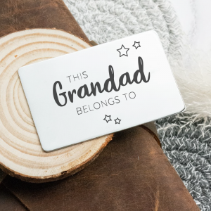 Stainless Steel Engraved Wallet Card 'This Daddy Belongs To...'