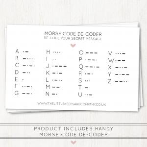 TLKC Engraved Morse Code Decoder